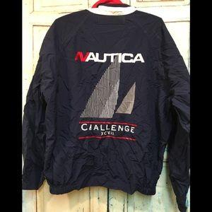 Vintage Nautica Sailing Navy Windbreaker Jacket L